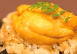 本日のおすすめメニュー「生雲丹と焼き飯」@恵比寿の大人の隠れ家 鉄板焼きバンブーグラッシィ (テイクアウト・デリバリー始めました!)