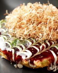 本日のおすすめメニュー「お好み焼きゴールデン」@恵比寿の大人の隠れ家 鉄板焼き バンブーグラッシィ(テイクアウト・デリバリーもやってます!)