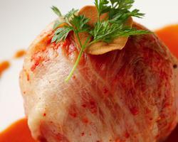 本日のおすすめメニュー「キムチの王様」@恵比寿の大人の隠れ家 鉄板焼き バンブーグラッシィ(テイクアウト・デリバリーもやってます!)