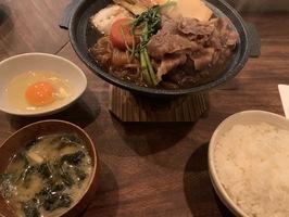 本日のおすすめランチメニュー「特撰和牛のすき焼き膳」@恵比寿の大人の隠れ家 鉄板焼きバンブーグラッシィ (テイクアウト・デリバリーもやってます!)