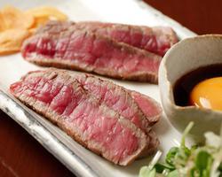 本日のおすすめメニュー「和牛ランプのたたき」@恵比寿の大人の隠れ家 鉄板焼き バンブーグラッシィ(Go To Eatキャンペーン対象店舗です!)