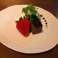 クリスマス限定特別コースの料理「オペラとクリームダンジュ」@恵比寿の大人の隠れ家 鉄板焼き バンブーグラッシィ