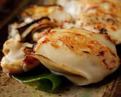 本日のおすすめメニュー「焼き牡蠣」@恵比寿の大人の隠れ家 鉄板焼き バンブーグラッシィ(テイクアウト・デリバリーもやってます!)