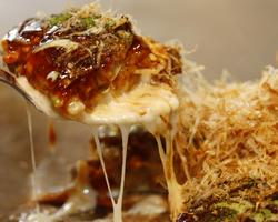 本日のおすすめメニュー「お好み焼きMIX」@恵比寿の大人の隠れ家 鉄板焼き バンブーグラッシィ(テイクアウト・デリバリーもやってます!)