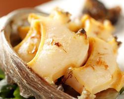 本日のおすすめメニュー「活あわび」@恵比寿の大人の隠れ家 鉄板焼き バンブーグラッシィ