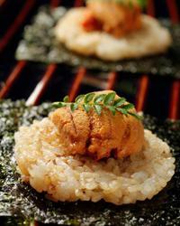 本日のおすすめメニュー「生雲丹と焼き飯」@恵比寿の大人の隠れ家 鉄板焼き バンブーグラッシィ