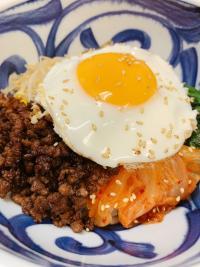 本日のおすすめメニュー「和牛そぼろのピビン丼」@恵比寿の大人の隠れ家 鉄板焼き バンブーグラッシィ