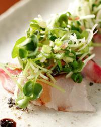 本日のおすすめメニュー「鮮魚のカルパッチョ」@恵比寿の大人の隠れ家 鉄板焼き バンブーグラッシィ